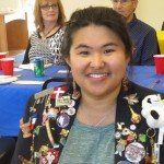 Guest Mei Lin Jackson, and in the background, guests Jill Jahelka and Bill Lemos.