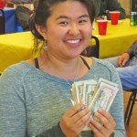 Mei with her conference funds, plus!