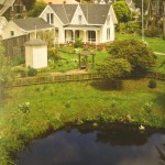 """The Kelley House pond, as seen on a postcard from """"back in the day."""""""