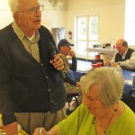 Joe introduces Visiting Rotarian (and his wife) Ruth Sparks.